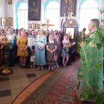Вручение свидетельств об окончании воскресной школы.